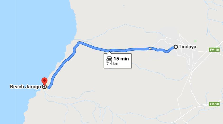 Playa De Jarugo Route