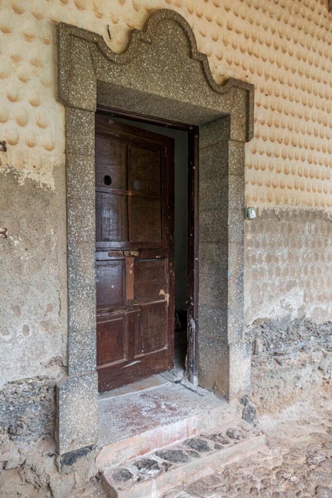 Door in courtyard